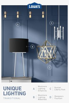 Shop lighting and ceiling fans like chandeliers, wall sconces and deck lighting. Unique Lighting, Pendant Lighting, Chandelier, Lighting Ideas, Park Lighting, Outdoor Lighting, Ceiling Fan, Ceiling Lights, Lowes Home Improvements