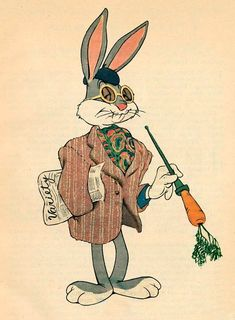 Animation Proclamations — Bugs Bunny as he appeared in Friz Freleng's A Hare. Retro Cartoons, Cartoon Icons, Classic Cartoons, Cartoon Art, Vintage Disney Posters, Vintage Cartoon, Vintage Comics, Bugs Bunny Pictures, Desenhos Cartoon Network