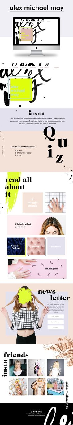 Website Design by Lindsey Eryn Clark of Third Story Apartment. Fashion Blogger, Showit5 Website, Web design, web inspo, graphic design, texture, velvet texture, body pos blogger, cool website layout, designspiration