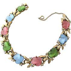 New Listing - Crown Trifari Pastel Acorn Bracelet