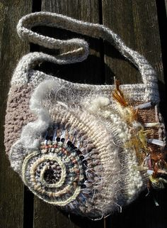 crochet bags, bag inspir, crochet freeform, free form, clever crochet, shell bag, freeform crochet, freeform bag, bohemian