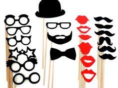 DIY 22 Mustache Photo Props,Little Man First Birthday,Baby Showers,Mustache Straws,Mustache Photo Prop,Mustache Party Decor,Bachelorette on Etsy, $11.00