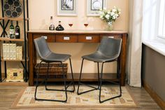 "Lotusville Vintage 24.5"" Bar Stool with Cushion"