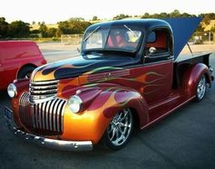 Cool old Chevy truck,Great paint