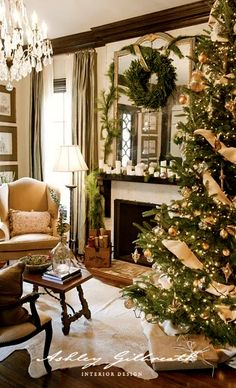 Ashley Gilbreath Design ::  Christmas Tree and Mantel