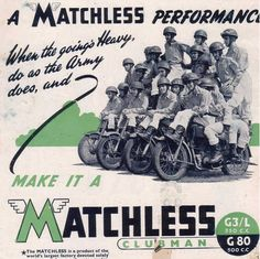 A Matchless Advert from 1946 promoting the G3L Army Riders