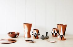 Sharon Muir terracotta ceramics. Photo – Sean Fennessy, styling – Lucy Feagins.