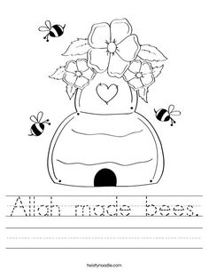 Allah made bees Worksheet - Twisty Noodle