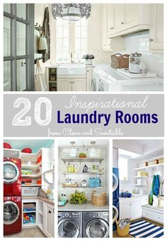 Clean & Scentsible: Inspirational Laundry Rooms {The September Household Organization Diet To Do List}