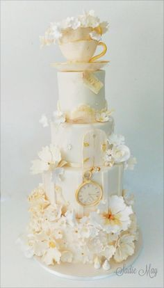 Ivory Alice inspired wedding cake by Sharon Sadie May Cakes