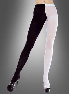 718fd95dd5556d Strumpfhose DEN schwarz-weiß bei Kostümpalast.de Mieder, Harlekin Kostüm,  Schwarz Weiß