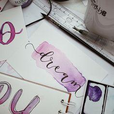 #handlettering #watercolor #brushlettering #calligraphy Brush Lettering, Hand Lettering, Notebook, Calligraphy, Watercolor, Pen And Wash, Lettering, Watercolor Painting, Handwriting