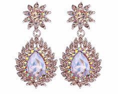 Sparkling Crystal Drop Earrings