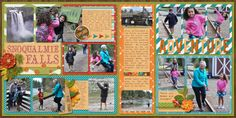Snoqualmie Falls by Misty Cato using Words and Pictures 2-Pager #5