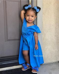 Honor Monroe - 21 months ❤ Gorgeous baby girl looking super cute in blue (30 Aug 2016)