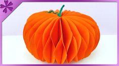 DIY Dynia z papieru. Paper pumpkin (+ENG Subtitles) - Na szybko #144