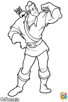 1000 images about dibujos para colorear on pinterest for Gaston coloring pages