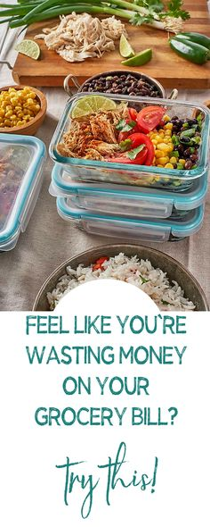 If you feel like you're wasting money on your grocery bill then try this Best Meal Prep, Meal Prep For The Week, Portion Control Diet, Meal Prep For Beginners, Weight Loss Meal Plan, Good Healthy Recipes, Nutrition Tips, Clean Eating Recipes, Paleo Diet