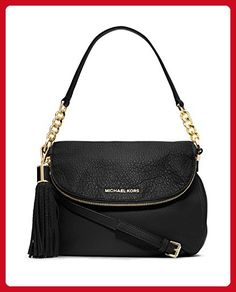 Michael Michael Kors Bedford Medium Convertible Shoulder Bag Black Leather New - Crossbody bags (*Amazon Partner-Link)