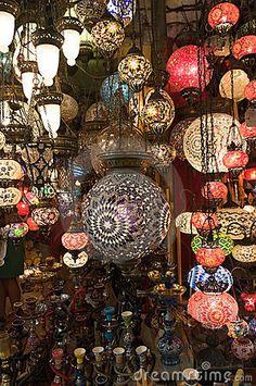 Turkish Lanterns In Grand Bazaar by Ollirg, via Dreamstime