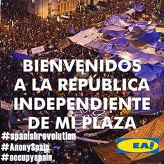 Bienvenidos a la Republica Independiente de mi plaza... #12M #15M (pinned by @ricardollera)