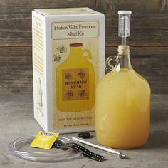 Mead-Making Kit #WilliamsSonoma @Seabron LeCompte Ward Pelc could maybe buy me one of these . . . I don't know ?!?