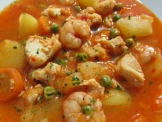 Guiso de patatas marinero We would like to introduce you to a helper who will… Spanish Dishes, Spanish Food, Spanish Kitchen, Spanish Cuisine, Mexican Food Recipes, Healthy Recipes, Ethnic Recipes, Patatas Guisadas, Slow Food