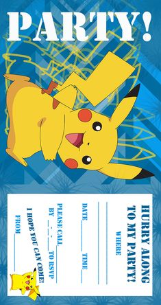POKEMON COLORING PAGES BIRTHDAY PARTY INVITATION FREE AND PRINTABLE Pokemon Birthday Invites