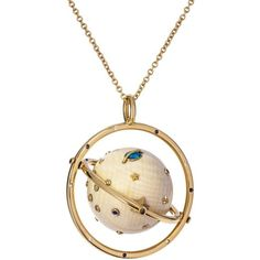 Bibi van der Velden Fossil Galaxy Necklace with Opal and Diamonds ($250) ❤ liked on Polyvore featuring jewelry, necklaces, galaxy necklace, cosmic jewelry, opal jewellery, diamond necklace and diamond jewelry