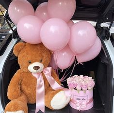 Birthday Goals, Diy Birthday, Cute Gifts, Diy Gifts, Cadeau Couple, Flower Box Gift, Teddy Bear Pictures, Romantic Surprise, Luxury Flowers