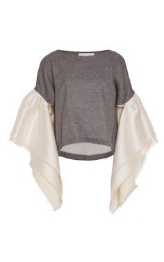 Arenal Ruffled Sweater by LEAL DACCARETT for Preorder on Moda Operandi