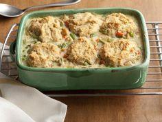Healthy Chicken and Biscuit Pot Pie Recipe : Ellie Krieger : Recipes : Food Network Pie Recipes, Chicken Recipes, Dinner Recipes, Cooking Recipes, Healthy Recipes, Healthy Chicken, Creamy Chicken, Baked Chicken, Freezer Chicken