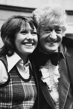 The Third Doctor and Sarah Jane.