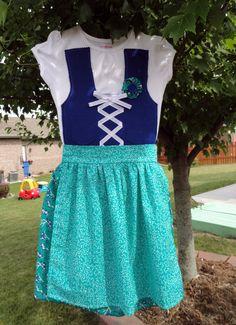 READY TO SHIP 5T Girls Dirndl Style Dress Oktoberfest German Fest