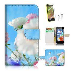Nokia Lumia 530 Flip Wallet Case Cover! P1455 Flower