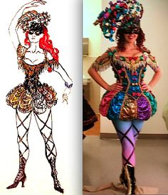 "Phantom of the Opera, the ""Triangle Girl"" Masquerade costume, (Maria Bjornson)"