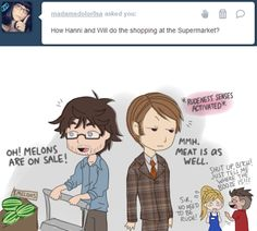 Shopping Time with Hannibal and Will by Musapan.deviantart.com on @deviantART