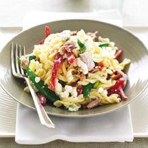Pasta salad with cottage cheese and tuna (to try)