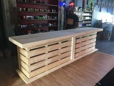 The Whoadie- Pallet style rustic dry bar reception desk or sales counter unfinished – Paletten projekte Palet Bar, Wooden Pallet Bar, Wooden Pallet Furniture, Bar Furniture, Rustic Furniture, Furniture Dolly, Furniture Removal, Furniture Stores, Diy Pallet Bar