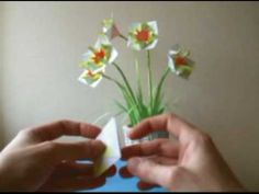 ▶ Origami Hyacinth - YouTube