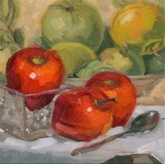 """Apple Ancestry"" - Original Fine Art for Sale - © Nancy Parsons"