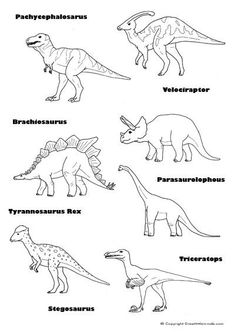 dinosaur word match