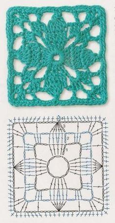 crochet chart motif