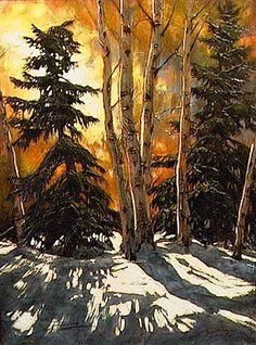 fine art since 1989 Landscape Art, Landscape Paintings, Landscapes, Nature Pictures, Pictures To Paint, Watercolor Illustration, Watercolor Art, Tree Artwork, Autumn Painting