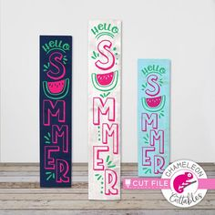 Hello Summer Watermelon, porch sign design SVG, vertical files for long wood panel, for Cutting Machine, Commercial Use Digital Design Porch Signs, Door Signs, Sign Design, All Design, Porch Welcome Sign, Summer Signs, Summer Porch, Monogram Frame, Hello Summer
