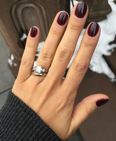 If you're on the hunt for a moody merlot nail polish Smith & Cult's 'Dark Like M… – Daily Fashion Dark Gel Nails, Shellac Nails, Toe Nails, Plum Nails, Dip Nail Colors, Sns Nails Colors, Nail Colors For Fall, Winter Nails Colors 2019, Popular Nail Colors