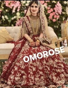 New Photo Red Gold Embroidered Omorose Pakistani Wedding Lehenga Thoughts Beautiful Wedding Dresses ! The present wedding dresses 2019 contains a dozen different dresses in t Bridal Mehndi Dresses, Asian Bridal Dresses, Pakistani Wedding Outfits, Indian Bridal Outfits, Bridal Dress Design, Pakistani Bridal Dresses, Pakistani Wedding Dresses, Wedding Dresses For Girls, Pakistani Clothing