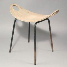 Olavi Kettunen. Stool, designed in the 1950s. H. 51.5 x : Lot 96
