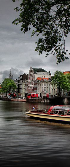 The best way to see Amsterdam is from a canal boat #Amsterdam #Netherlands / #canalboat