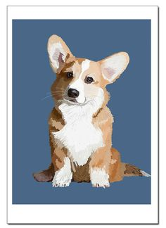 Things we all adore about the Fun Pembroke Welsh Corgi Dogs Dog Illustration, Digital Illustration, Corgi Drawing, Pembroke Welsh Corgi, Corgi Dog, Animal Paintings, Dog Art, Pet Portraits, Painting Inspiration